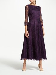 Bruce By Bruce Oldfield Lace 3 4 Sleeve Dress Wine Tasting