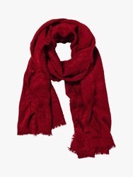 Fat Face Poppy Brushed Scarf Red