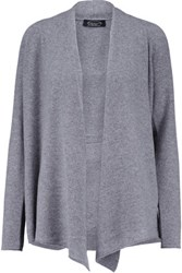 Magaschoni Draped Cashmere Cardigan Gray