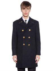Thom Browne Melton Wool Long Peacoat