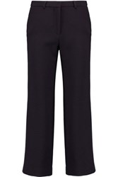 Goat Benedict Wool Crepe Slim Leg Pants Midnight Blue