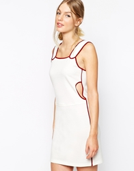 See By Chloe Pinafore Style Dress White