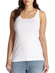 Eileen Fisher Plus Size Organic Cotton Tank Top White Black