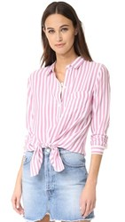 Rails Aly Stripe Button Down Shirt Garnet White Stripe