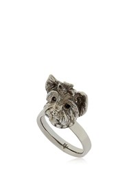 Mg Trends Silver And Crystal Yorkshire Ring