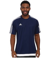 Adidas Estro 15 Jersey Dark Blue White Men's Short Sleeve Pullover