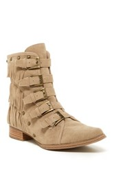 Penny Loves Kenny Swish Velvet Ankle Boot Beige