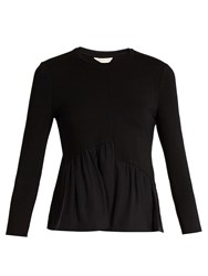 Rebecca Taylor Gathered Hem Jersey Top Black