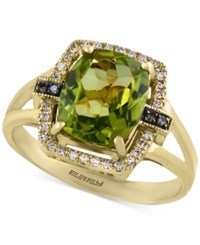 Effy Olivia By Peridot 2 3 4 Ct. T.W. And Diamond 1 8 Ct. T.W. Ring In 14K Gold Green