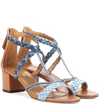 Aquazzura Beverly Hills 50 Denim Sandals Blue
