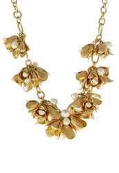 J.Crew Canna Necklace Goldcoloured