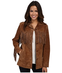 Scully Derringer Suede Fringe Jacket Cinnamon Women's Coat Burgundy