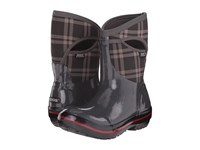 Bogs Plimsoll Plaid Mid Dark Gray Women's Cold Weather Boots