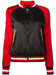 Philipp Plein Pink Bomber Jacket Black