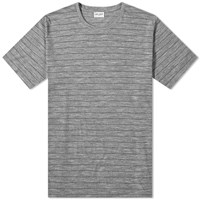 Saint Laurent Stripe Tee Grey