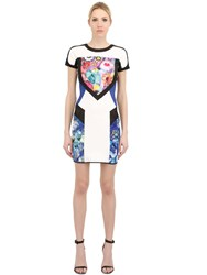 Just Cavalli Floral Printed Scuba Jersey Dress