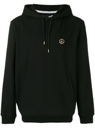 Love Moschino Peace Emblem Hoodie Black