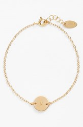Women's Nashelle Initial Mini Disc Bracelet 14K Gold Fill V