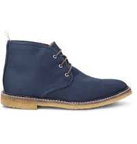 Thom Browne Canvas Desert Boots Blue