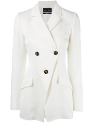 Proenza Schouler Double Breasted Jacket White