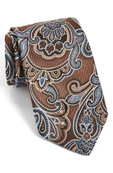 J.Z. Richards J.Z Richards Paisley Silk Tie Brown