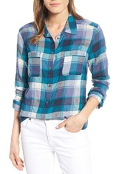 Caslonr Women's Caslon Long Sleeve Crinkle Cotton Shirt