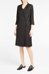 Paul Joe Women S Delidelo Pinstripe Double Breasted Dress Boutique1 Black