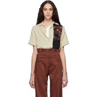 Telfar Khaki Slash Pocket Bowling Shirt