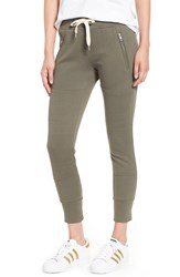 Sincerely Jules Women's 'Lux' Skinny Cotton Jogger Pants Olive