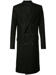 Ami Alexandre Mattiussi Double Breasted Coat Black