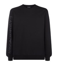 Armani Ea7 Logo Series Crew Neck Sweatshirt Male Black