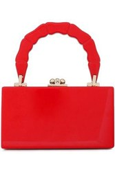 Edie Parker Woman Mirror Trimmed Acetate Clutch Red
