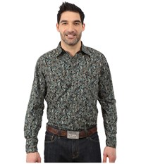 Roper 034 Flowing Paisley Black Men's Clothing