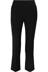 Roland Mouret Goswell Cropped Crepe Flared Pants Black