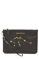 Etienne Aigner 'Zodiac Small Eve' Wristlet Black Aquarius