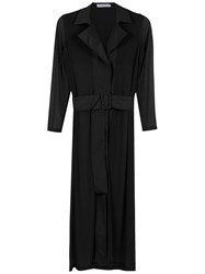 Mara Mac Long Shirt Dress Black