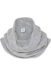 Johnstons Of Elgin Cable Knit Cashmere Snood Light Gray