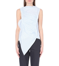 J.W.Anderson Ruched Sleeveless Tank Top Blue White
