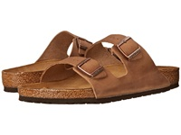 Birkenstock Arizona Oiled Leather Unisex Tobacco Oiled Leather Sandals Brown