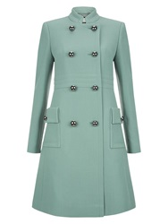 Hobbs Aphra Wool Coat Cameo Green