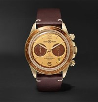 Bell And Ross Revolution Bellytanker Chronograph 41Mm Stainless Steel Leather Watch Gold