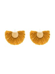Katerina Makriyianni Wool Fan Earrings Yellow