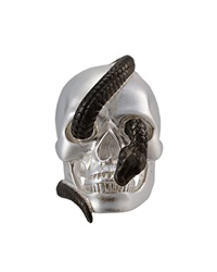 Theo Fennell Two Tone Snake And Skull Ring Black