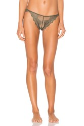 Only Hearts Club So Fine Lace Thong Olive