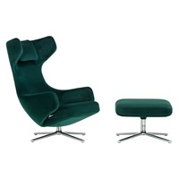 Limited Edition Grand Repos Chair And Ottoman Nobile Fabric Ivy