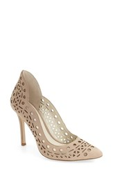 Bcbgeneration Women's 'Taleesa' Pointy Toe Pump Sand Nubuck Leather