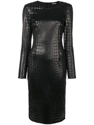 Tom Ford Scale Effect Fitted Dress Black