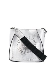 Stella Mccartney Logo Cross Body Bag Silver