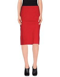 Gunex Skirts 3 4 Length Skirts Women Red