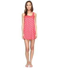 Kate Spade Cotton Sateen Cotton Modal Chemise Bow Tie Mini Geranium Women's Pajama Pink